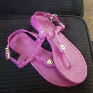 Coach New York Purple Thong Sandals